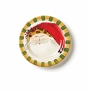 Vietri Old St. Nick Round Salad Plate - Animal Hat