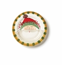 Vietri Old St. Nick Round Salad Plate - Green Hat