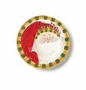 Vietri Old St. Nick Round Salad Plate - Striped Hat