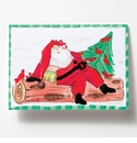 Vietri Old St. Nick Santa Winter's Rest Greeting Card