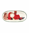 Vietri Old St Nick Small Oval Platter