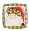 Vietri Old St. Nick Square Salad Plate - Animal