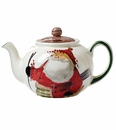 Vietri Old St. Nick Teapot
