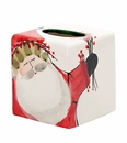 Vietri Old St. Nick Tissue Box