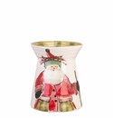 "Vietri Old St. Nick Utensil Holder 7"" H, 5.25"" D"