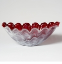 Vietri Onda Glass Red Centerpiece