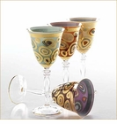 Vietri Regalia Purple Wine Glass