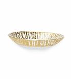 Vietri Ruffle Glass Gold Medium Serving Oval Bowl