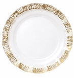 Vietri Ruffle Glass Gold Service Plate/Charger