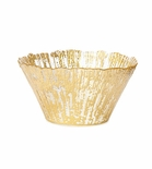 Vietri Ruffle Glass Gold Small Deep Bowl