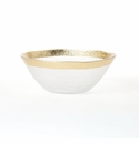 Vietri Rufolo Glass Gold Organic Small Bowl