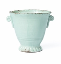 Vietri Rustic Garden Aqua Small Flair Planter