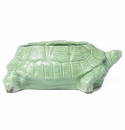 Vietri Rustic Garden Light Green Turtle Planter