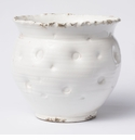 Vietri Rustic Garden Punched White Tall Cachepot