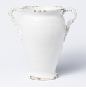 Vietri Rustic Garden White Tall Rope Footed Vase