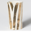 Vietri Scattered Gold Matte Striped Vase
