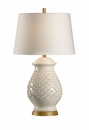 Vietri Sculpted Ceramic Aged Cream Fiera Table Lamp
