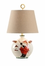 Vietri Small Old St. Nick Hand Painted Ceramic Table Lamp