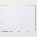 Vietri Whipstitch Ivory with Natural Placemat