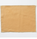 Vietri Whipstitch Mustard with Natural Placemat