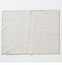 Vietri Whipstitch Oatmeal with Natural Placemat