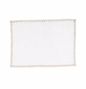 Vietri Whipstitch White with Gold Placemat