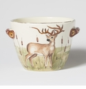 Vietri Wildlife Deer Handled Deep Serving Bowl