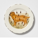 Vietri Wildlife Hunting Dog Salad Plate