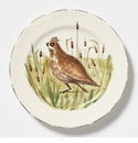 Vietri Wildlife Quail Dinner Plate
