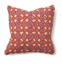 Villa Accent Pillow 18 x 18 Balance Pink & Orange