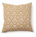 Villa Accent Pillow 22 x 22 London Print Gold