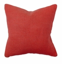 Villa Accent Pillow 22 x 22 Red Basketweave