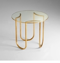 Vincente Iron Gold Round Side Table by Cyan Design
