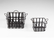 Vintage Iron Grocery Hand Baskets Set (3) by Cyan Design