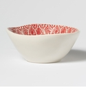Viva Vietri Lace Red Small Serving Bowl (Set of 4)