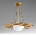 Vivian 3 Light Pendant Gold by Cyan Design