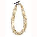 Vivo Studios 3 Strand Horn Chain Necklace With Toggle