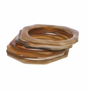 Vivo Studios Buffalo Bangles Set 7 Cut Corners