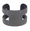 Vivo Studios Matte Gray Horn Open Band Cuff