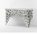 Volos Modern Geometry Mirrored Console Table by Cyan Design