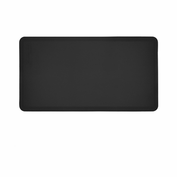 WellnessMats 48 in. Yoga Mat Black