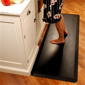 Wellnessmats Anti Fatigue Kitchen Floor Mat Black 6x2 207