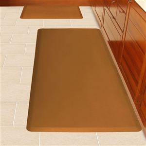 Wellnessmats Anti Fatigue Kitchen Floor Mat Brown 6x3