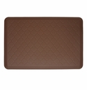 Wellnessmats Cushioned Kitchen Floor Mat - Brown - Trellis 3x2