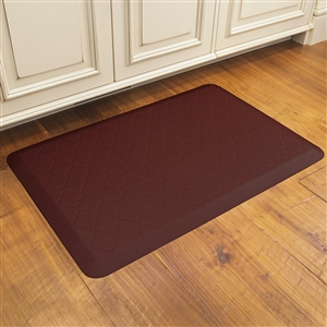 Wellnessmats cushioned kitchen floor mat burgundy Decorative kitchen floor mat