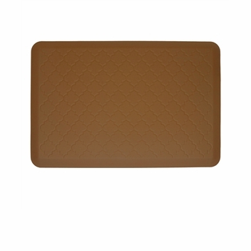 Wellnessmats Cushioned Kitchen Floor Mat - Tan - Trellis 3x2