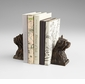 Westie Bronzed Iron Bookends by Cyan Design