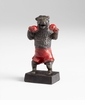 Whimsical Boxing Bear Iron Sculpture by Cyan Design