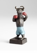 Whimsical Boxing Bull Iron Sculpture by Cyan Design