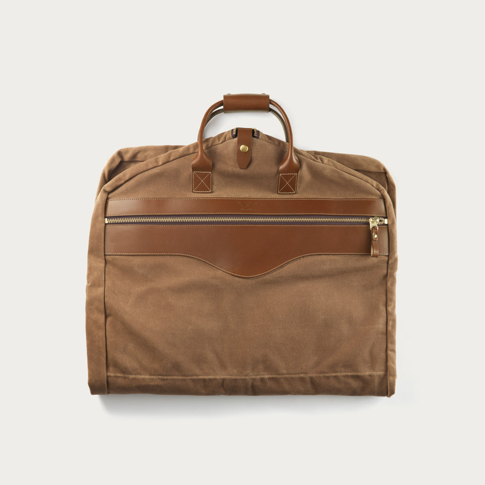 Leather Hanging Garment Bag